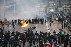 香港街头警民冲突
