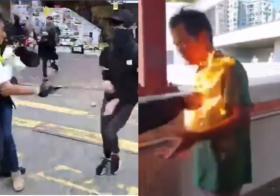 """一日两起严重暴力事件 林郑称示威者""""不会得逞"""""""