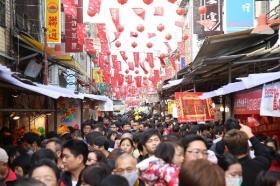 台北农历新年气息浓郁