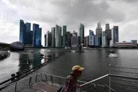 Singapore Skyline Overcast