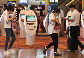 新加坡樟宜机场旅客
