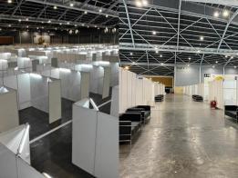 新加坡博览中心一夜之间的蜕变。(何晶面簿)