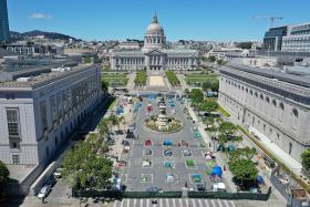美国旧金山的流浪汉被集中起来
