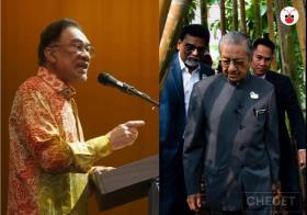 Anwar and Mahathir
