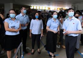 工人党盛港集选区候选人:何廷儒、蔡庆威、林志蔚和辣玉莎今天走访选区