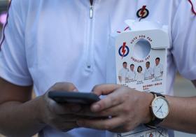 大选期间,阿裕尼集选区人民行动党的义工