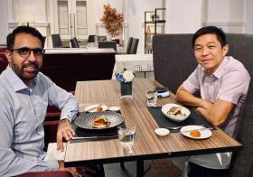 陈川仁和毕丹星共进午餐