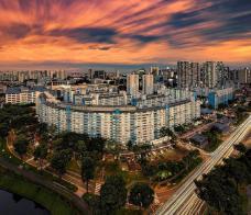 位于加冷地区,新加坡最长的弧形建筑组屋。(patlawhl)