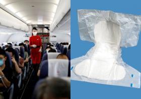 """防疫新招? 中国民航局建议空服员穿""""一次性尿不湿"""""""