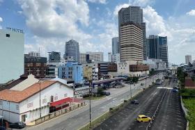 马来西亚柔佛新山街景