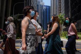 新加坡商业区人潮