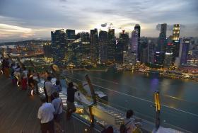鸟瞰新加坡中央商业区