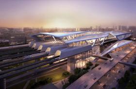 高铁在马国的首站——马来西亚城站。