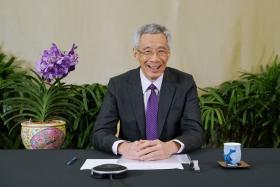 李显龙总理在世界经济论坛达沃斯议程发表演说