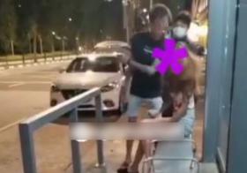 24岁男子上周四(3月25日)与前女友发生冲突。当时他当着警察的面前掌掴前女友