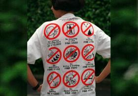 """新加坡被称为""""罚款城市"""""""