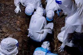马国冠病死亡人数激增 殡葬人员:医院堆满遗体的照片是真的