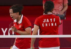 中国女子羽毛球双打选手陈清晨
