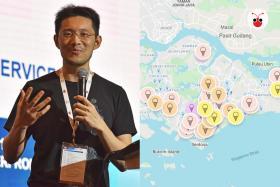 """李鸿毅开发""""新加坡冰淇淋地图"""""""